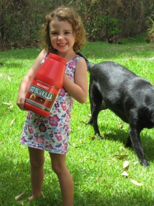 Lawn Grub Control Bottle with Hollie !