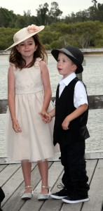 Hollie and Marcus at wedding