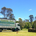 Turf Truck ready to get loaded for Bogangar Public School