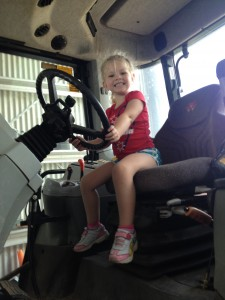 The next generation of female tractor drivers