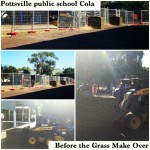 Before the school Cola dirt area was trasnformed...