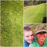 Riley and I after we fun tested a new lawn going to Sanctuary Cove.